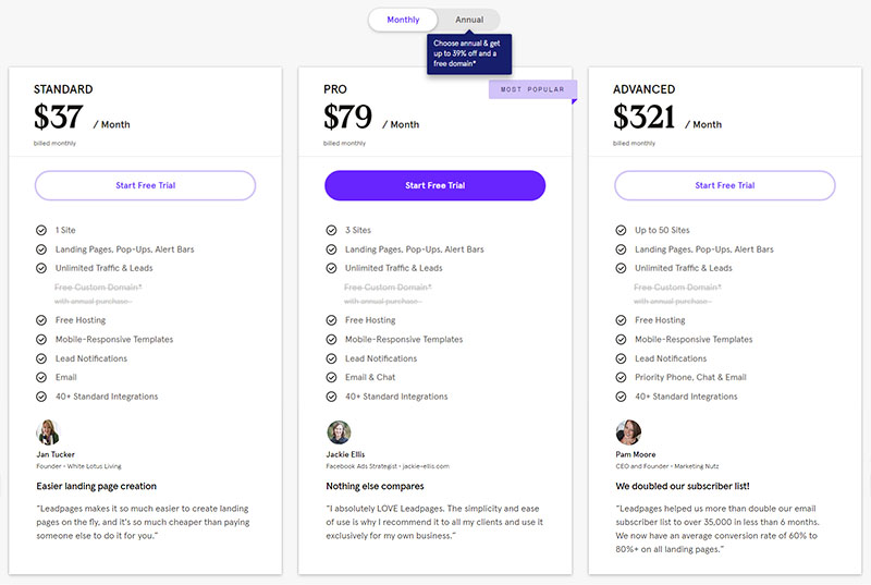 LeadPages Pricing
